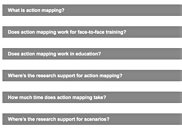Action mapping FAQ