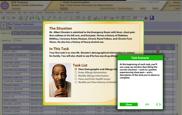 Screenshot of medical software training