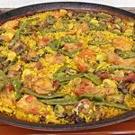 Platter of paella