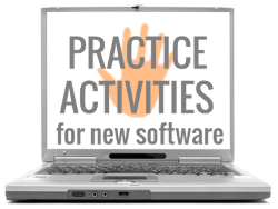Practice activities for new software