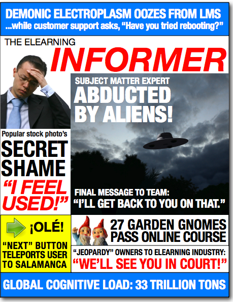 Fake front page of a tabloid