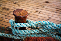 Rope tied to pier